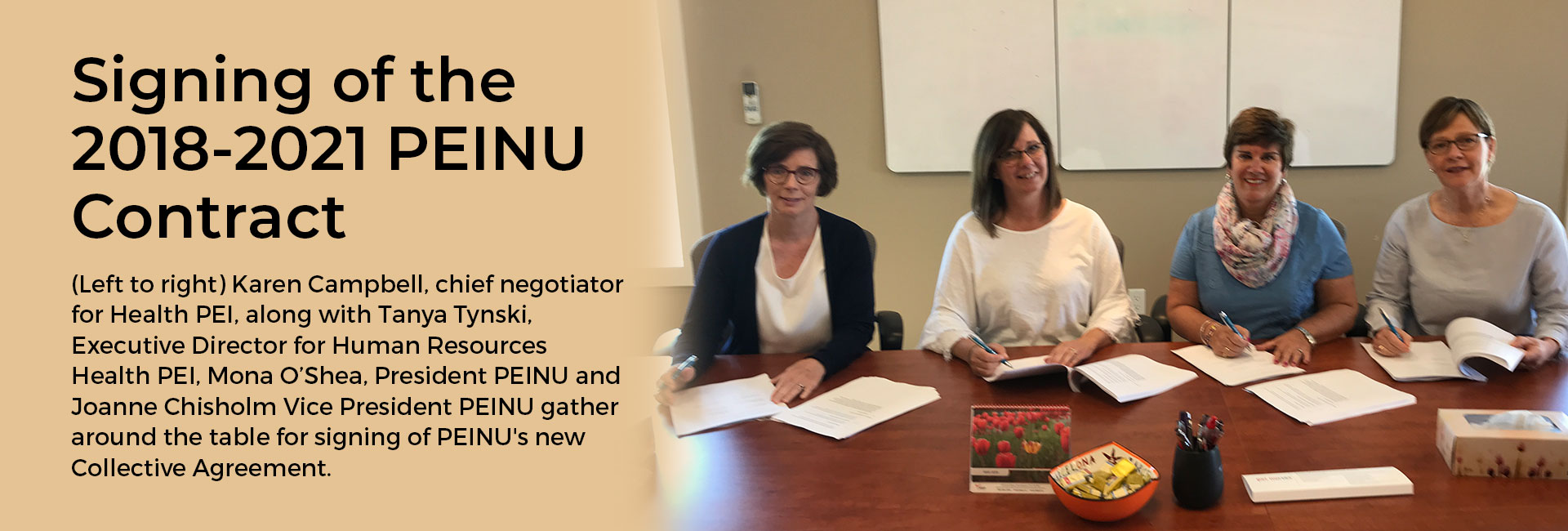 PEINU Contract Signing